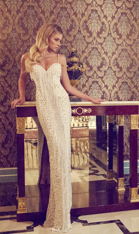 שמלת כלה בעיצוב דימיטריוס דליה. צילום: אלכס ליפקין