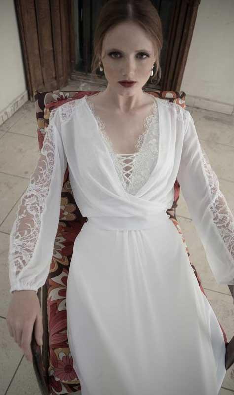 שמלת כלה וינטאג': שלומי יקיר.  צילום: רון קדמי