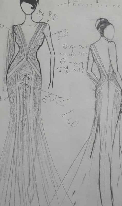 סקיצות שמלות כלה 2015