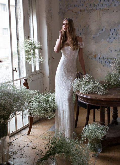 שמלת כלה קלאסית ישרה