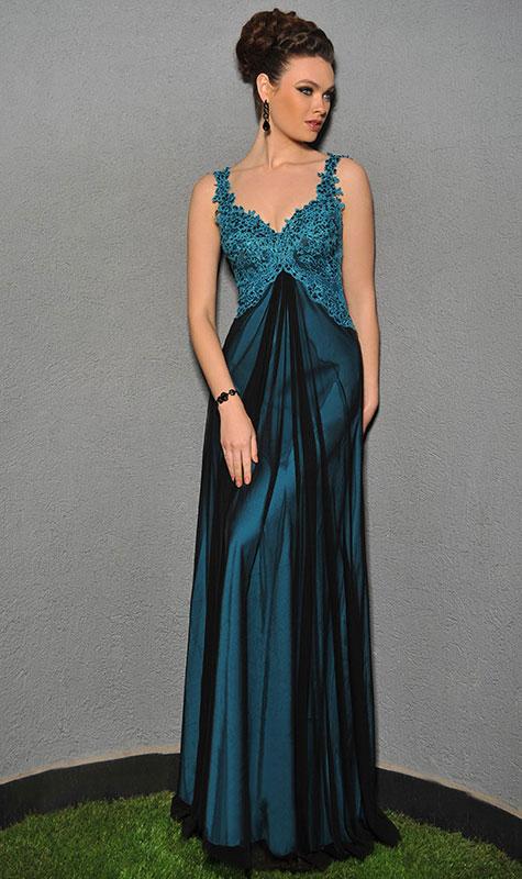 שמלת ערב בצבע ירוק עמוק למלווה או לשושבינה
