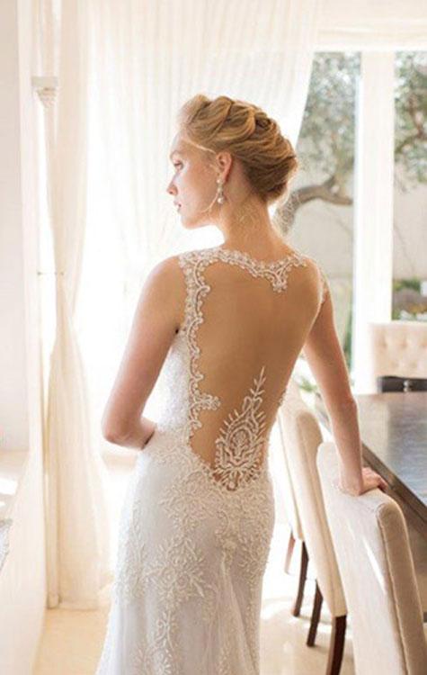 ק שמלה לבנה משולבת תחרה