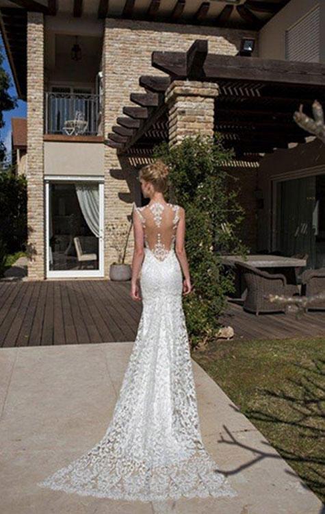 שמלת כלה 2016 עם גב חשוף של רומן בלבן
