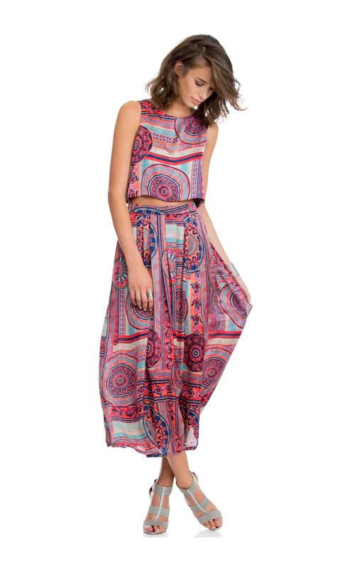 צבעוניות אתנית בשני חלקים - בגדי ערב