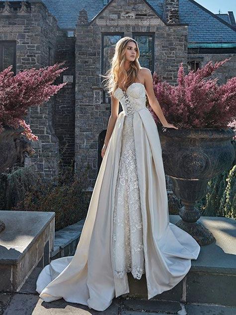 שמלת כלה כפרית עם מחוך