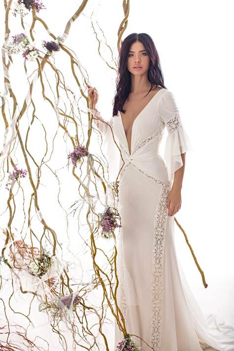 שמלת כלה בעיצובה של שלומית אזרד