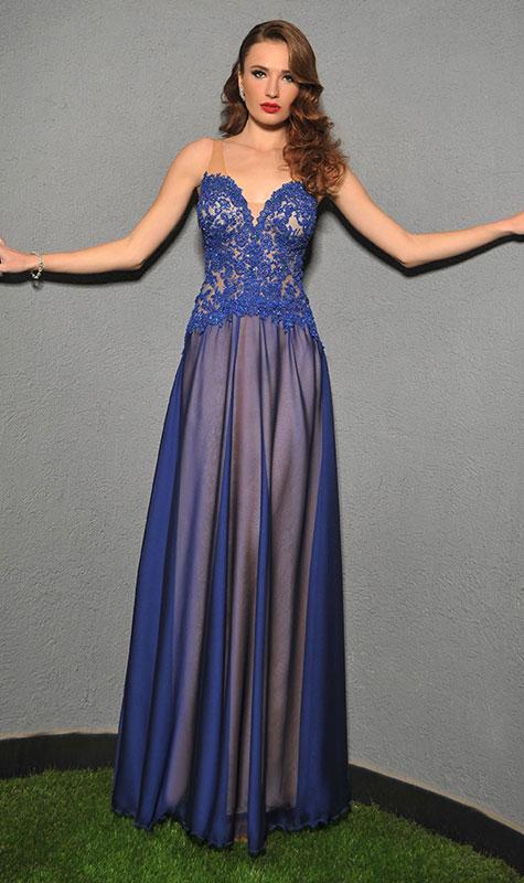 שמלת שושבינה כחולה