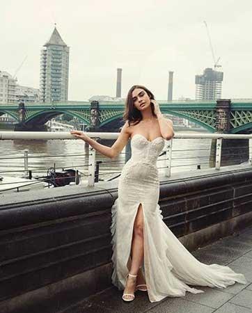 נסיכה בשמלת כלה רומנטית
