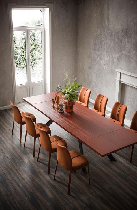 שולחן אירוח מלבני