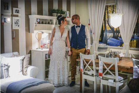 צילום חתונה במתחם איקיאה