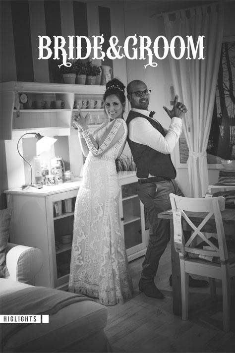 צילום חתן - כלה עם קריצה הומוריסטית באיקאה